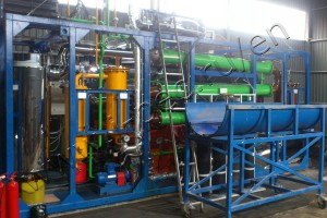 IPEC waste tyre pyrolysis plant was installed in Kaliningrad