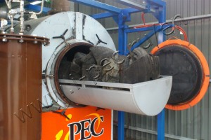 IPEC waste tyre pyrolysis plant was installed in Kaliningrad