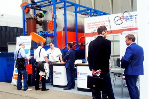Pyrolysis plant UTD-2-200 at the oil and gas exhibition MIOGE-2015