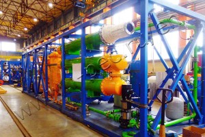 Continuous pyrolysis plant TDP- 2-800 for processing coke industry waste shipped to the Customer