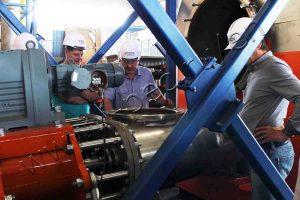 Acceptance of equipment by representatives of Viru Keemia Grupp