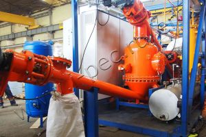 Activated coal pyrolysis plant