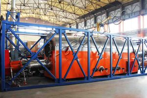 Shale waste pyrolysis plant