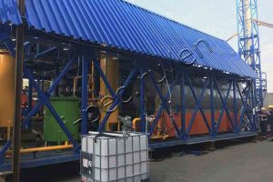 Automotive shredder residue pyrolysis plant