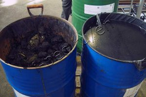 Oil sludge prepared for treatment at TDP-2
