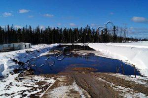 Oil sludge pit
