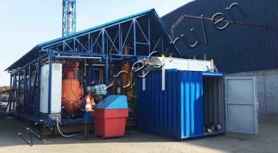 Auto shredder residue treatment plant