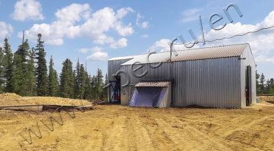 Drill waste pyrolysis plant