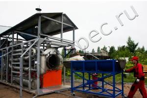 Оборудование для пиролиза, установка термической деструкции (УТД-1)