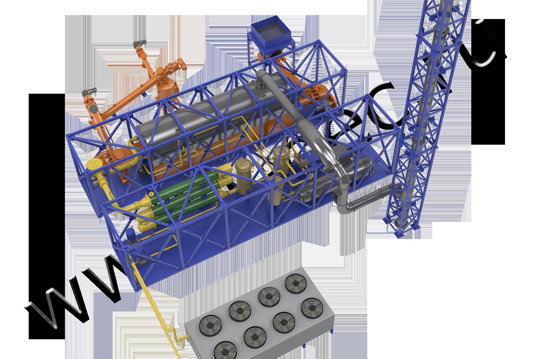 Установка термической деструкции (УТД-2-2000)