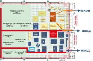"""План павильона. IPEC на выставке """"Экология Большого Города"""""""