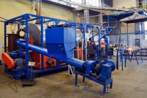 Утилизация печатных плат на установке пиролиза УТД-2-200. Тестовые испытания
