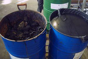 Нефтешлам, подготовленный к утилизации на УТД-2