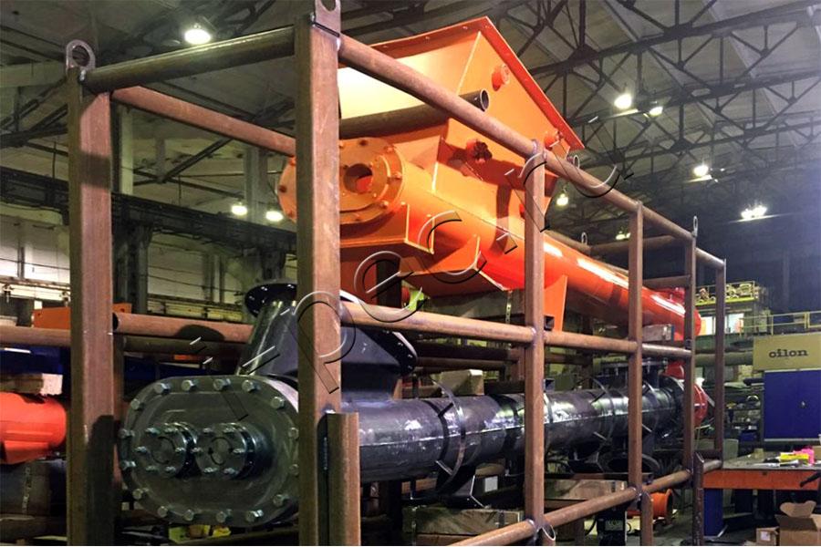 Блок загрузки отходов бурения модернизированной УТД-2-800