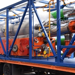 Установка пиролиза нефтешламов УТД-2-200