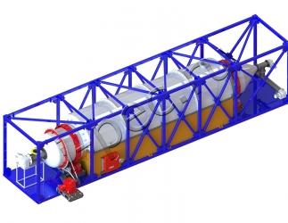 Установка термической деструкции УТД-2-1000 (вращающийся реактор)