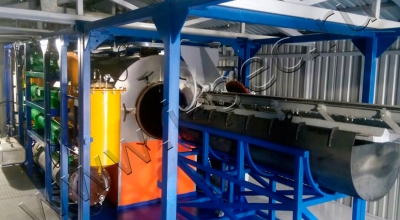 Установка пиролиза шин УТД-1-1000