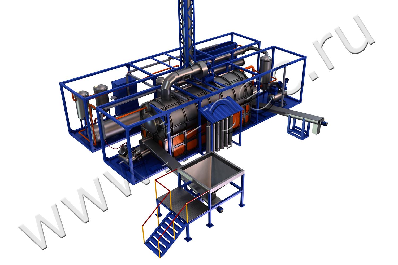 схема подвода пиролиз газа в топку